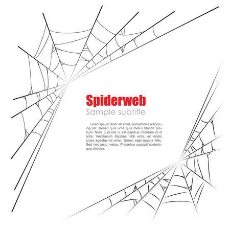 halloween spider: Spider web vector illustration on white background