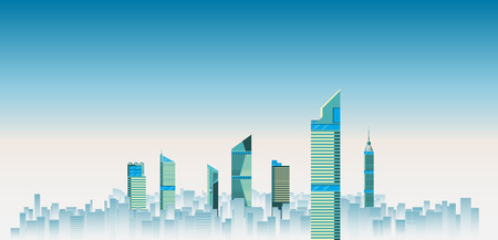 skylines: City skylines background vector illustration. flat city building. Up town flat infographic and design. Illustration