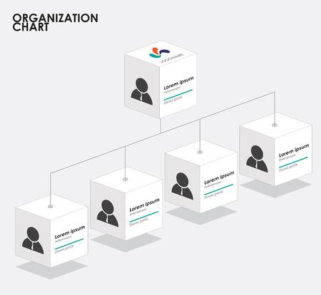 Organisationsschema infographics med träd. vektor illustration