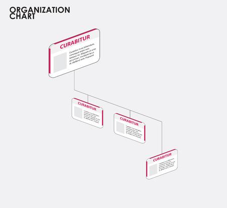 organigrama: Infograf�a Organigrama con el �rbol. ilustraci�n vectorial Vectores