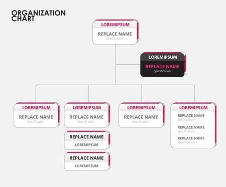 Organigramm Infografiken mit Baum. Vektor-Illustration Standard-Bild - 37809009