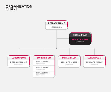 3d manager: Organization chart infographics with tree. vector illustration