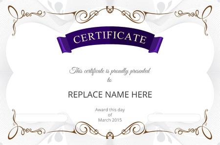 Zertifikat Grenze Zertifikatvorlage. Vektor-Illustration Standard-Bild - 37809113