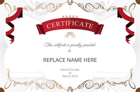 Zertifikat Grenze Zertifikatvorlage. Vektor-Illustration Standard-Bild - 37888262