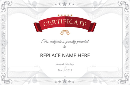 Certificate border, Certificate template. vector illustration Vector