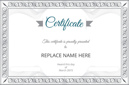 Zertifikat Grenze Zertifikatvorlage. Vektor-Illustration Standard-Bild - 38157017