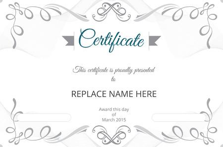 Certificaat grens, certificaat sjabloon. vector illustratie Stock Illustratie