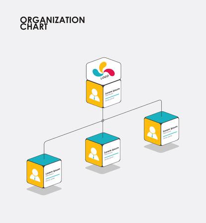 tree diagram: Infografica organigramma con albero, flusso Diagramma. illustrazione vettoriale.