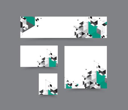 Geometrie veelhoek op witte achtergrond banner. abstracte banner. vectorillustratie Stock Illustratie