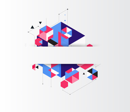 Lage veelhoek. geometrie veelhoek abstracte banner. vector illustratie Stock Illustratie