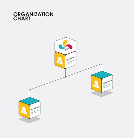 diagrama de arbol: Infografía Organigrama con el árbol, el flujo de diagrama. ilustración vectorial.