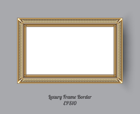 Picture frame vector. Photo art gallery. vector illustration. Vectores