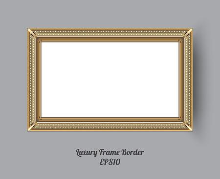 Picture frame vector. Photo art gallery. vector illustration. Illustration
