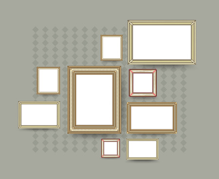 Picture frame vector. Photo art gallery. vector illustration. Vector
