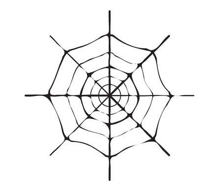 spider web: spider web monochrome. Illustration