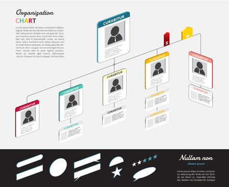 organizational chart: Organization chart infographics with tree.