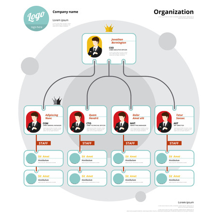 Organization chart, Corporate structure, Flow of organizational.