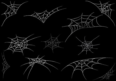 black widow: spider web monochrome.