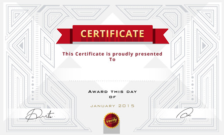 decoration template: Certificate border, Certificate template. vector illustration