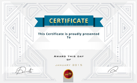 certificate border: Certificate border, Certificate template. vector illustration