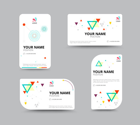 Business card template business card layout design vector business card template business card layout design vector illustration stock vector 41181506 wajeb Gallery