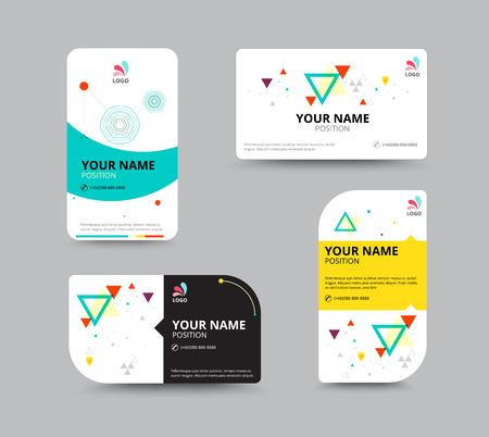 Visitenkarten Vorlage, Visitenkarte Layout-Design, Vektor-Illustration