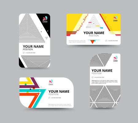 business card: Business card template, business card layout design, vector illustration