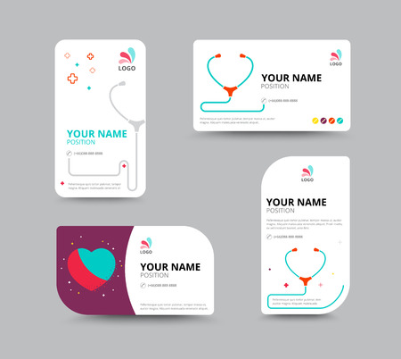 business people: Business card template, business card layout design, vector illustration