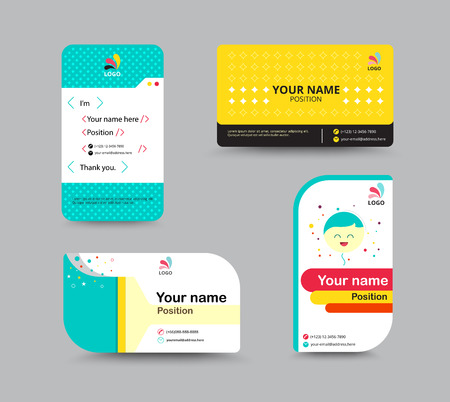 star icon: Business card template business card layout design vector illustration
