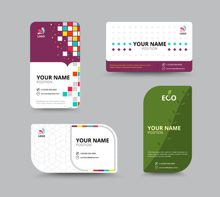 name: Contact card template. Business name card design set. vector illustration Illustration