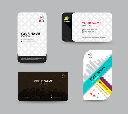 construction paper art: Contact card template. Business name card design set. vector illustration Illustration