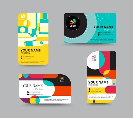 Adreskaartjesjabloon. naam kaart ontwerp voor het bedrijfsleven. omvatten monster tekst lay-out. vector illustratie. eenvoudige naamplaatje design concept. Stock Illustratie