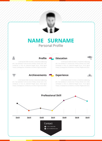 Business resume design template with commercial design. vector illustration