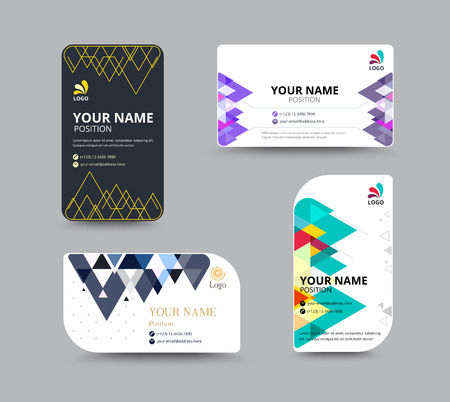 comunity: Business card template with Triangle abstract concept and commercial design. vector illustration