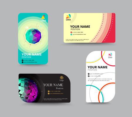 Visitekaartje sjabloon, visitekaartje lay-out ontwerp, vector illustratie