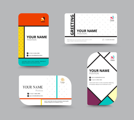 a card: Business card template, business card layout design, vector illustration