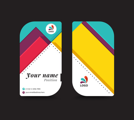 paper tag: Business name card template. vector illustration Illustration
