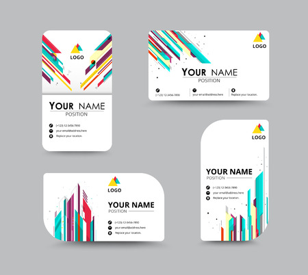 abstract building: Business greeting card template design. introduce card include sample text position. vector illustration design.