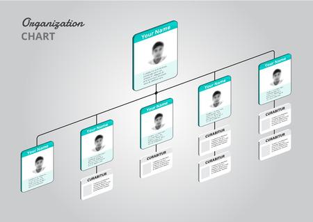 organigramme: Organigramme infographie avec l'arbre. illustration vectorielle