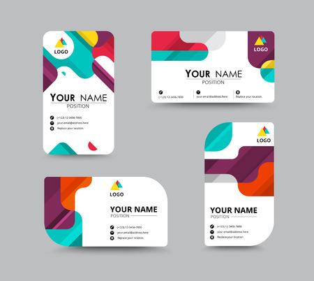 membrete: Saludo del asunto diseño de la plantilla de la tarjeta. introducir la tarjeta incluye la posición del texto de la muestra. diseño de ilustración vectorial.