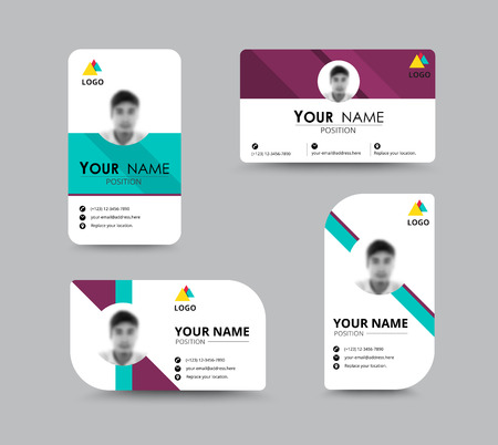 employees: Business greeting card template design. introduce card include sample text position. vector illustration design.