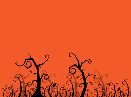 trees silhouette: Spooky tree halloween element. vector illustration.