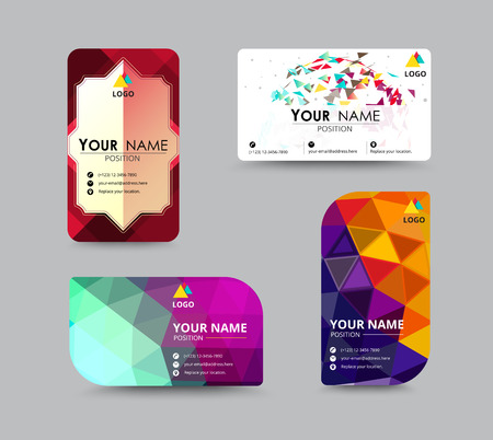 identity card: abstract business card, flyer design template. vector illustration