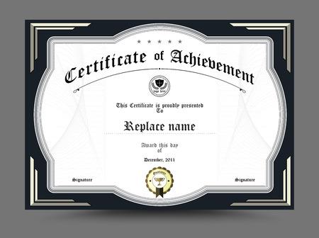 certificate template: Diploma certificate template design. vector illustration.