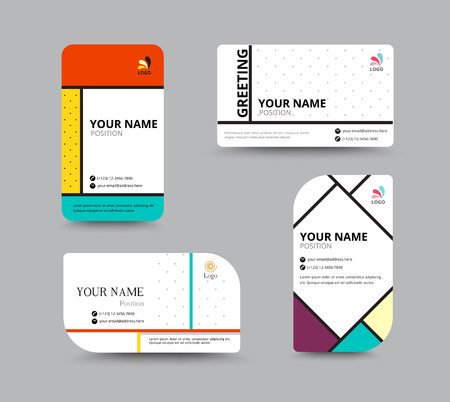 comunity: Business card template. name card design for business. include sample text layout. vector illustration. simple name tag design concept. Illustration