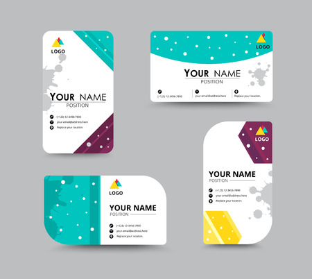 introduce: Business greeting card template design. introduce card include sample text position. vector illustration design.