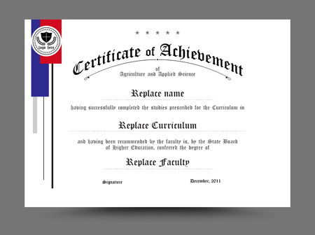 diploma: Certificado Diploma dise�o de la plantilla. ilustraci�n vectorial.