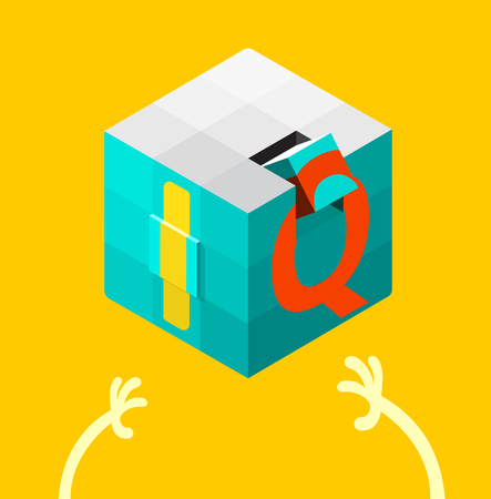 iq: Intelligence quotient (IQ) test concept. vector illustration. Illustration