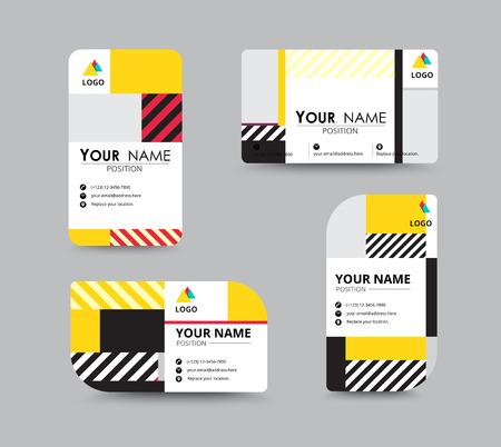 Moderne visitekaartje en visitekaartje design. contempolary ontwerp met voorbeeld content. vector illustratie. Stock Illustratie
