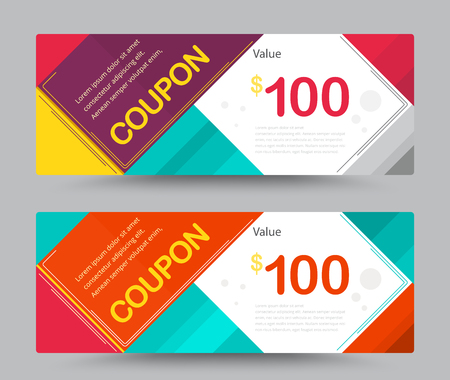 coupon: Gift voucher card template design. for special time, Best of customer, Thank giving, and other sale. vector illustration.